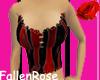 Red Bustier w/ design