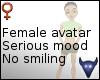 Serious mood avatar (f)