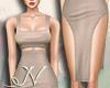 N. Simple Nude Dress