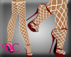 (DC)Fishnet Red Sadals