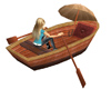 Animated Rowing Rowboat