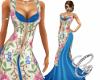 Harem Floral Sequin Silk