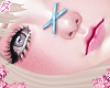d. X nose blue