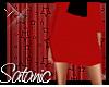 Boss Lady Red Skirt