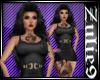 Tina Dress Black w/Tatoo