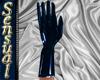 Blue Latex Wrist Gloves