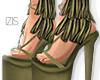 I│Fringed Heels Olive