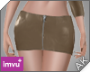 ~AK~ PVC Skirt: Tan