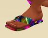 Metallic Rnbw Flip-flop