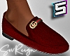 ! Loafers Red Suede V1