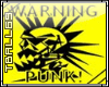 Warning Punk Sticker
