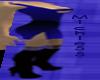 [m55] Strapy blue dress