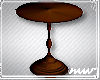 !Round end table wood B