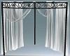 Corner drape curtains