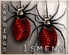 [Is] Red Spider Earrings
