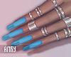 [Anry] Klara Blue Nails
