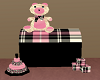 Pink Plaid Toy Chest