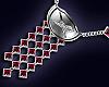 Ruby silver crest Nckl