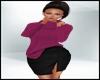 Fall Sweater Skirt Pink