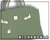 RF | Leather Tote -Mint