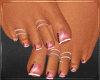 Pink Frenchtip Pedicure