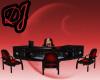 black red desk