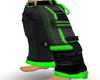 green/black cargos pants