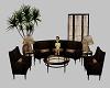 Brown/Bronze sofa set