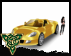 Gold Sports car animated