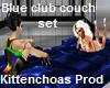 Blue club couch set