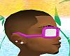 *CA* Pink/White Glasses