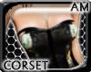 [AM] Leather Blk Corset