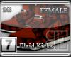[BE] Red Plaid|Kicks F