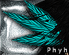 P. Feathers Hair Aqua
