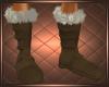 Fur Boots Brown Tan