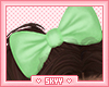 Kids Berry Green Bow