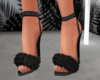 glitter fur heels