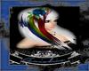 White w/ Rainbow streaks