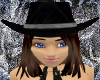 Midnight Cowgirl Hat BR3
