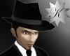 {K} Black Fedora Hat