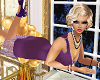 (K) flapper dress purple