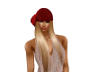 Blond with Cute Red Hat