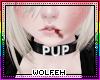 ♡ blk pup collar