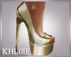 K goldie gold heels