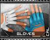[c] Fusion Gloves Blue
