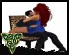 Leopard Kissing  Chair