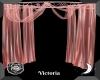 Peach Draped Curtain