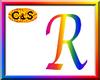 C&S Rainbow Letter R