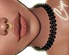 "Pearl Choker Black"""