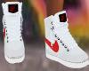 White Red Nikes F